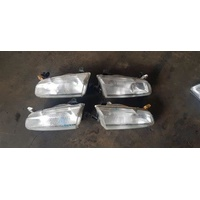 Toyota Camry 20 series early front lights both sides